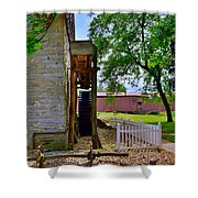 Herr's Mill And Covered Bridge 2 Shower Curtain