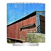 Herrs Mill Bridge Shower Curtain
