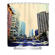 Herzog Beirut Terraces And Holiday Inn 2 Shower Curtain