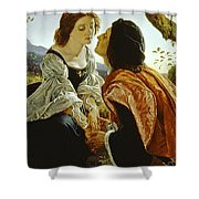 Hesperus The Evening Star Sacred To Lovers Shower Curtain by Sir Joseph Noel Paton