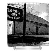 Hessian Powder Magazine Shower Curtain