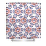 Hexagonal Flower Pattern Shower Curtain