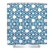 Hexagonal Snowflake Pattern Shower Curtain