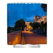 Hexham Abbey At Night Shower Curtain