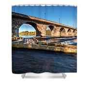 Hexham Bridge And Fish Pass Shower Curtain
