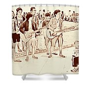 Hey Baby We Sing For You Shower Curtain