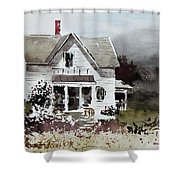 Heyl House, Minneapolis, Kansas Shower Curtain