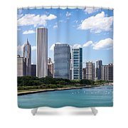 Hi-res Picture Of Chicago Skyline And Lake Michigan Shower Curtain