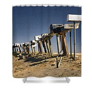 Hi-way 41 Mailboxes Shower Curtain