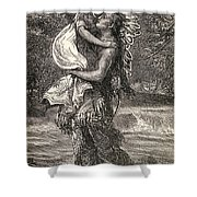 Hiawatha And Minnehaha Shower Curtain by Unknown