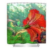 Hibiscus Flame Shower Curtain