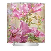 Hibiscus Impression Shower Curtain