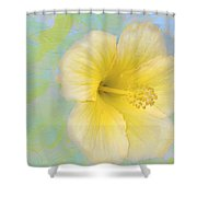 Hibiscus In The Clouds Shower Curtain