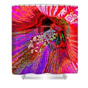 Hibiscus Macro Abstract Shower Curtain