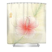 Hibiscus On Palm  Shower Curtain