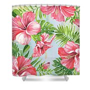 Hibiscus Paradise-jp3965 Shower Curtain