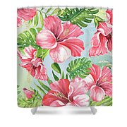 Hibiscus Paradise-jp3966 Shower Curtain