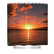 Hickam Sunset Shower Curtain