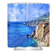 Hidden Beach At Big Sur Shower Curtain