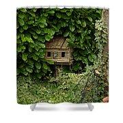 Hidden Birdhouse Shower Curtain