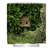 Hidden Birdhouse Shower Curtain