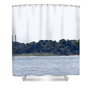 Hidden Bridge Shower Curtain