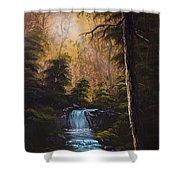 Hidden Brook Shower Curtain by C Steele