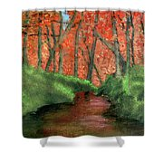 Hidden By Trees Shower Curtain