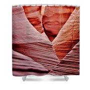 Hidden Canyon Angles. Shower Curtain