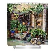 Hidden Courtyard Shower Curtain