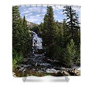 Hidden Falls - Grand Tetons Np Shower Curtain
