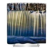 Hidden Falls Morning Glow Shower Curtain