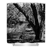 Hidden History Black And White Shower Curtain