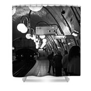Paris Tube Station Cite - Hidden Kiss Shower Curtain