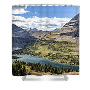 Hidden Lake Overlook Shower Curtain