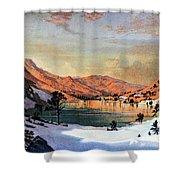 Hidden Lake Western United States Shower Curtain
