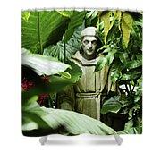 Hidden Monk Shower Curtain