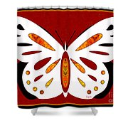 Hidden Possibilities And Abstract Butterflies By Omashte Shower Curtain