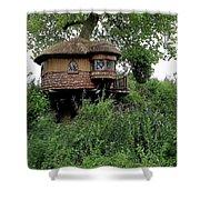Hidden Treehouse Shower Curtain