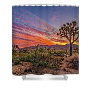 Hidden Valley Sunset Shower Curtain