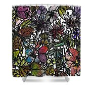 Hide And Seek In Wildflower Bushes Shower Curtain