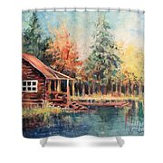 Hide Out Cabin Shower Curtain