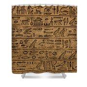 Hieroglyph Shower Curtain
