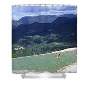 Hierve El Agua 2 Shower Curtain