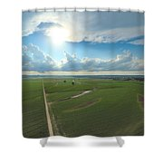 High Above Cropland  Shower Curtain