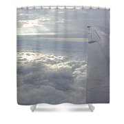 High Above The Clouds Shower Curtain
