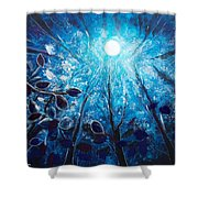 High At Night Shower Curtain
