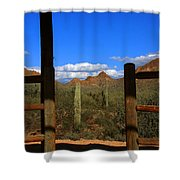High Chaparral - Mountain View Shower Curtain