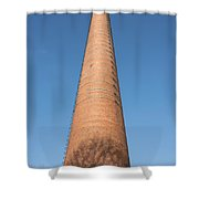 High Chimney At Blue Sky Shower Curtain