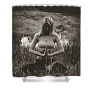 High Contrast Meditation Meadow Shower Curtain